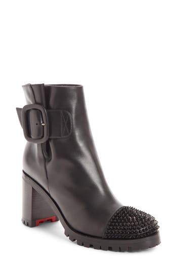 Christian Louboutin Olivia Spiked Boot, Black
