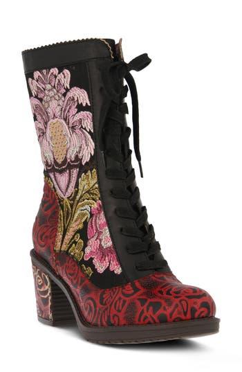 Retro Boots, Granny Boots, 70s Boots Womens LArtiste Casandra Bootie Size 10.5-11US  42EU - Black $159.95 AT vintagedancer.com