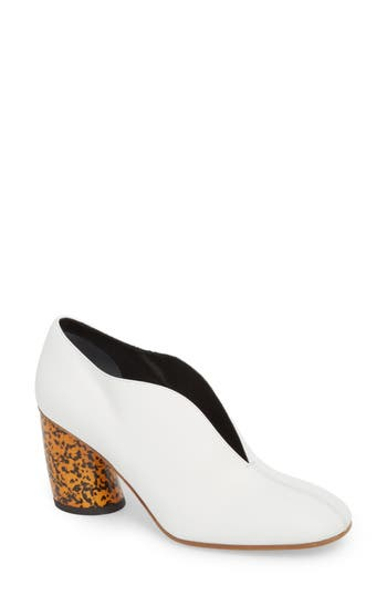 Proenza Schouler Square Toe Pump, White