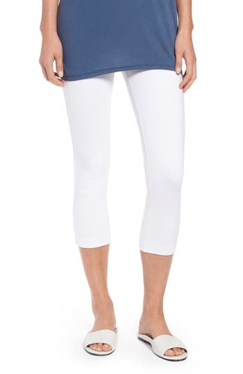 Nic+Zoe Perfect Crop Leggings, White