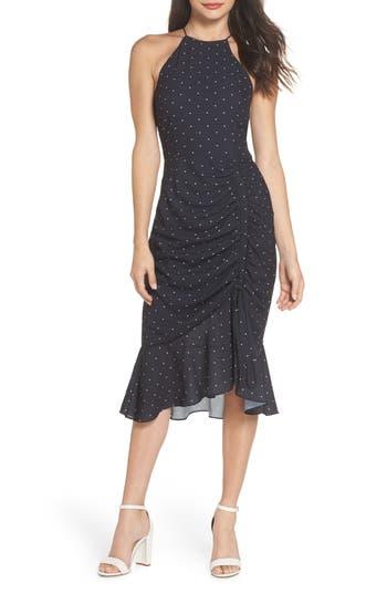 Cooper St Portia High Neck Midi Dress, Black
