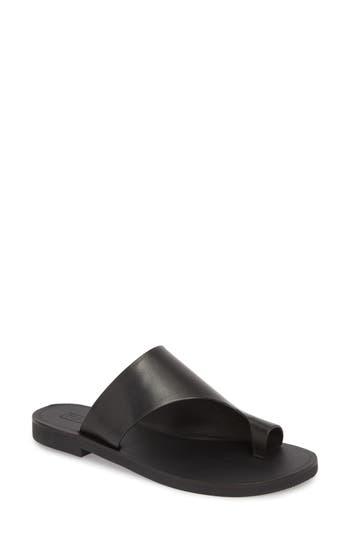 Women's Topshop Florence Toe Post Sandal, Size 6.5US / 37EU M - Black