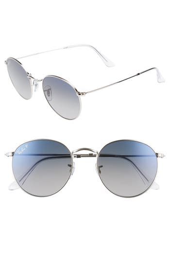 Ray-Ban 5m Polarized Round Sunglasses - Silver Gradient
