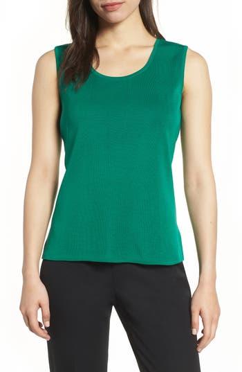 Ming Wang Knit Tank Top, Green