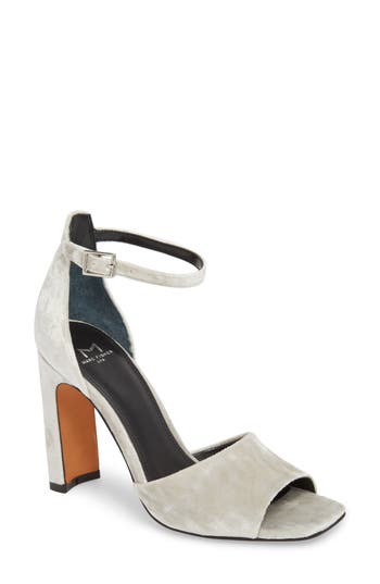 Marc Fisher Ltd Harlin Ankle Strap Sandal, Grey