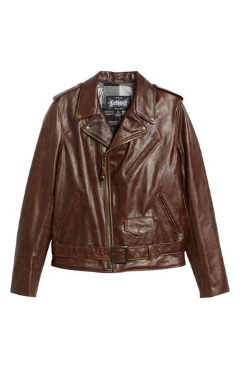 50s Men's Jackets| Greaser Jackets, Leather, Bomber, Gaberdine Mens Schott Nyc Waxy Cowhide Leather Motorcycle Jacket Size Medium - Brown $795.00 AT vintagedancer.com