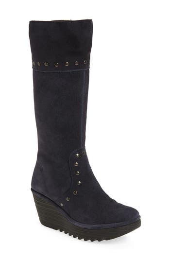 Fly London Yota Knee High Boot - Blue