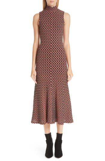 Beaufille SLEEVELESS CROCHET TRUMPET DRESS