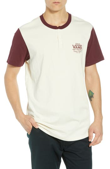 Vans Holder Street Henley T-Shirt, Ivory