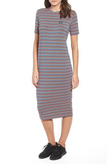 Bowery Stripe T-Shirt Dress, Sapphire Multi