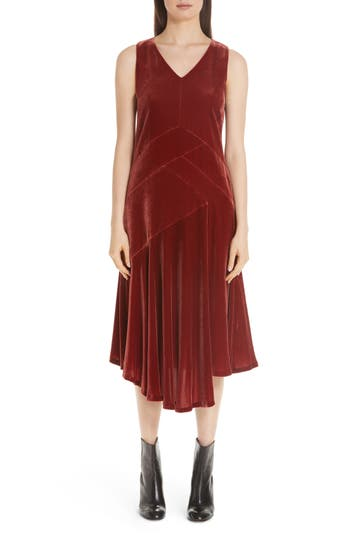 1920s Style Dresses, Flapper Dresses Womens Lafayette 148 New York Ashlena Asymmetrical Velvet Dress $798.00 AT vintagedancer.com