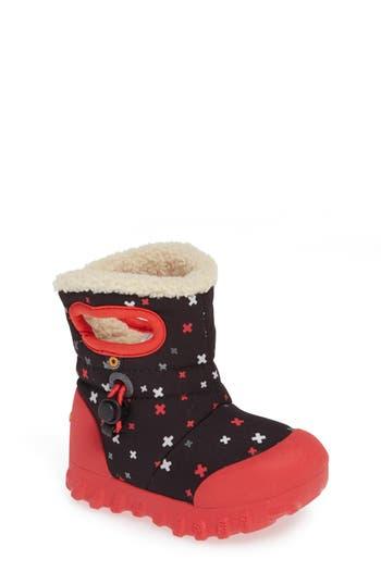 Infant Bogs B-Moc Plus Waterproof Insulated Faux Fur Boot, Black