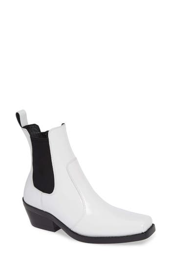 Jeffrey Campbell Poker Chelsea Boot, White