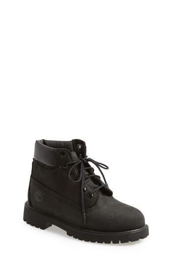 Kid's Timberland '6 Inch Premium' Waterproof Boot, Size 3.5 M - Black