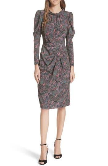 Rebecca Taylor Hudson Silk Paisley Dress, Grey