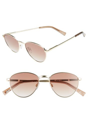 Le Specs Hot Stuff 52Mm Oval Sunglasses - Bright Gold
