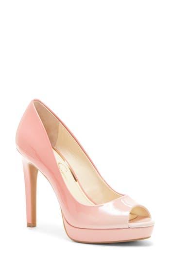 Jessica Simpson Dalyn Peep Toe Pump, Pink