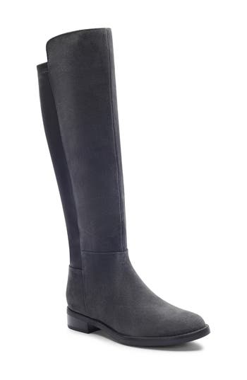 Blondo Ellie Waterproof Knee High Riding Boot, Grey