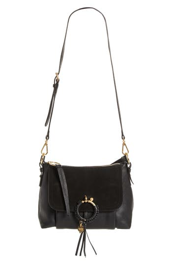 See By Chloe Small Joan Suede & Leather Crossbody Bag -