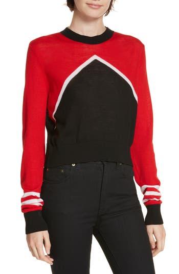 Etre Cecile Merino Wool Colorblock Crop Top, Black