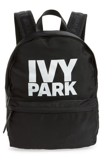 Ivy Park Layered Logo Backpack - Black