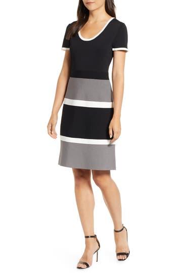 1960s Dresses | 60s Dresses Mod, Mini, Jakie O, Hippie Womens Anne Klein Colorblock A-Line Knit Dress $129.00 AT vintagedancer.com
