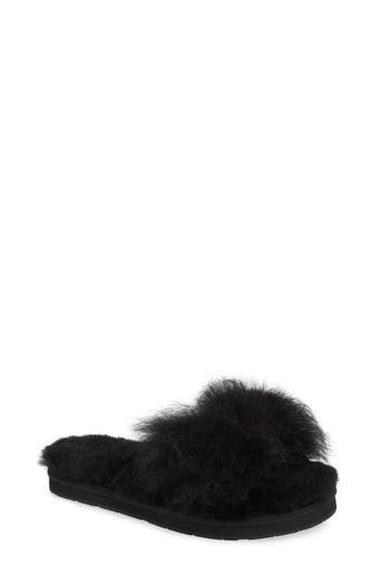 Ugg Mirabelle Genuine Shearling Slide Slipper, Black