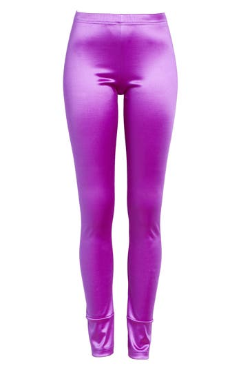 Junya Watanabe Stretch Satin Leggings, Purple