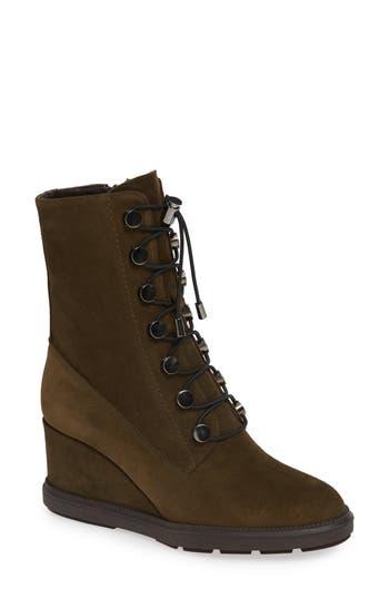 Aquatalia Campbell Wedge Boot- Green