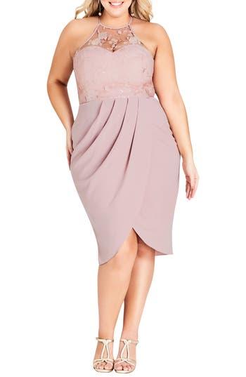 Plus Size City Chic Lady Grace Dress, Red