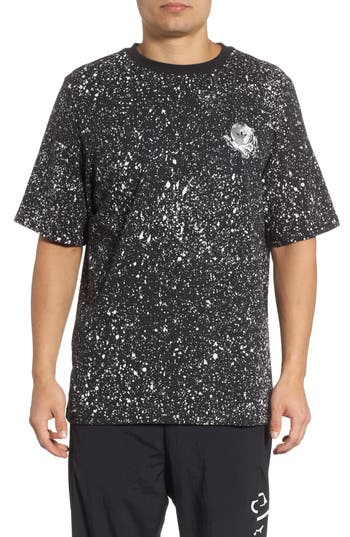 Adidas Originals Planetoid Allover Print T-Shirt, Black