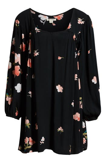 Billabong Beach Craze Floral Print Dress, Black