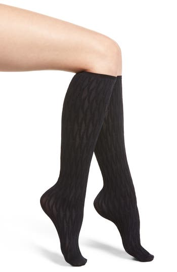 Origami Knee High Stockings, Marine