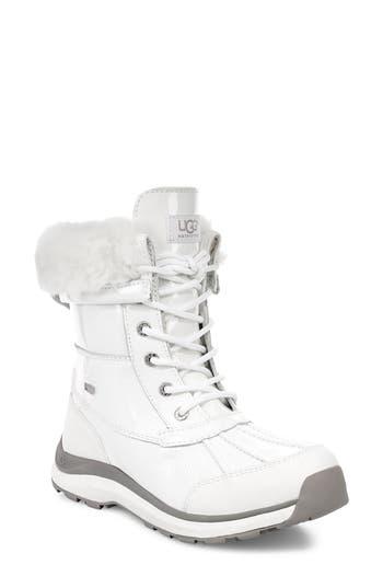 Ugg Adirondack Iii Waterproof Insulated Patent Winter Boot, White