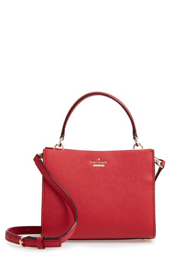Small Cameron Street - Sara Leather Satchel - Red, Heirloom Red