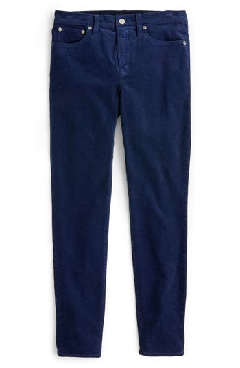 High Rise Toothpick Corduroy Jeans, Navy