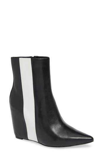 Calvin Klein Yvania Stripe Wedge Bootie, Black