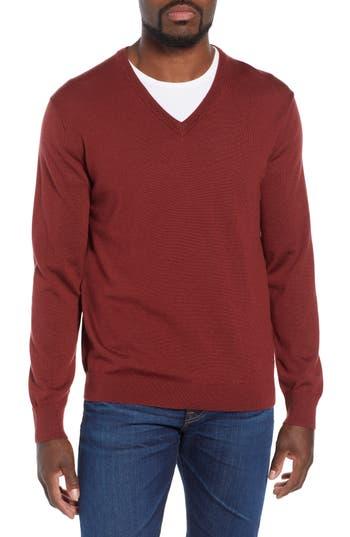 J.crew V-Neck Merino Wool Sweater, Blue