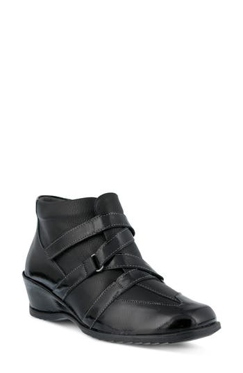 Spring Step Allegra Wedge Bootie - Black