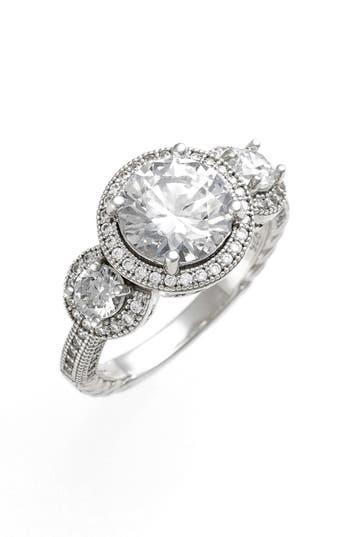 Women's Lafonn 'Lassaire' Round Cut Three Stone Ring