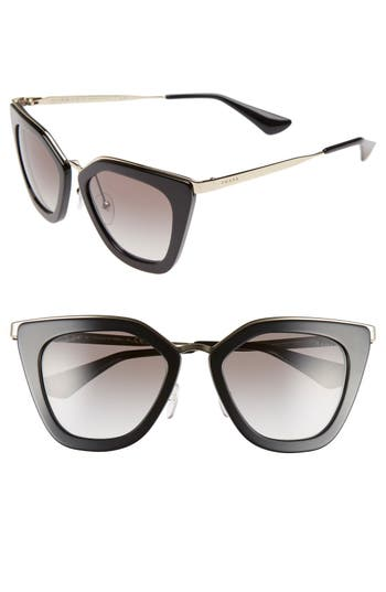 Women's Prada 52Mm Cat Eye Sunglasses -