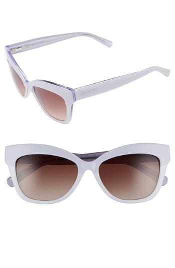 Unique Retro Vintage Style Sunglasses & Eyeglasses Womens Ted Baker London 55Mm Cat Eye Sunglasses - White $149.00 AT vintagedancer.com