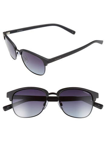 Women's Polaroid Eyewear 55Mm Polarized Sunglasses - Matte Black/ Polarized