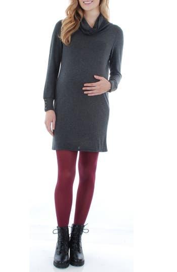 Women's Everly Grey 'Marina' Cowl Neck Maternity Sweater Dress