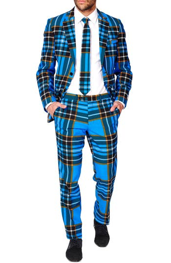 1960s Style Mens Suits- Skinny Suits, Mod Suits, Sport Coats Mens Opposuits Braveheart Trim Fit Suit With Tie $99.99 AT vintagedancer.com