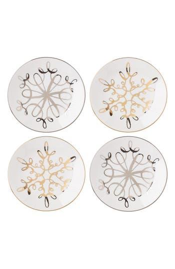 Kate Spade New York 'Metallic Snowflake' Tidbit Plates
