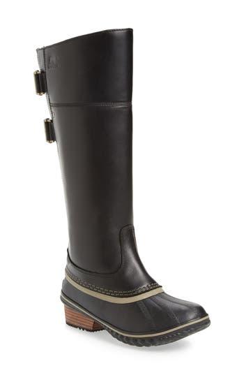 Women's Sorel 'Slimpack Ii' Waterproof Riding Boot, Size 5 M - Black