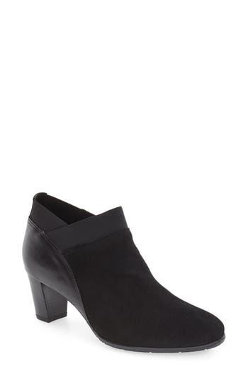 Women's Ara 'Torrence' Almond Toe Zip Bootie, Size 10.5 M - Black