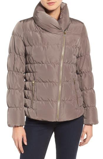Kenneth Cole Asymmetrical Puffer Jacket, Beige