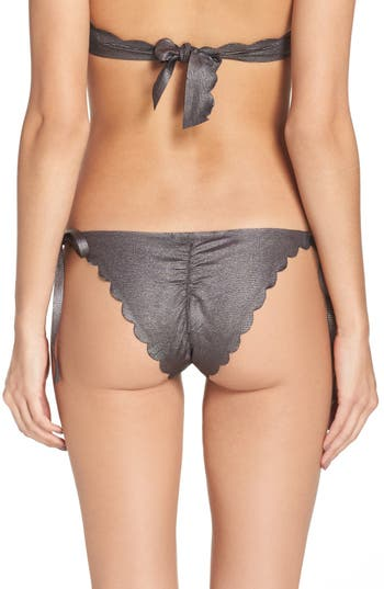 Women's Pilyq Scalloped Reversible Bikini Bottoms